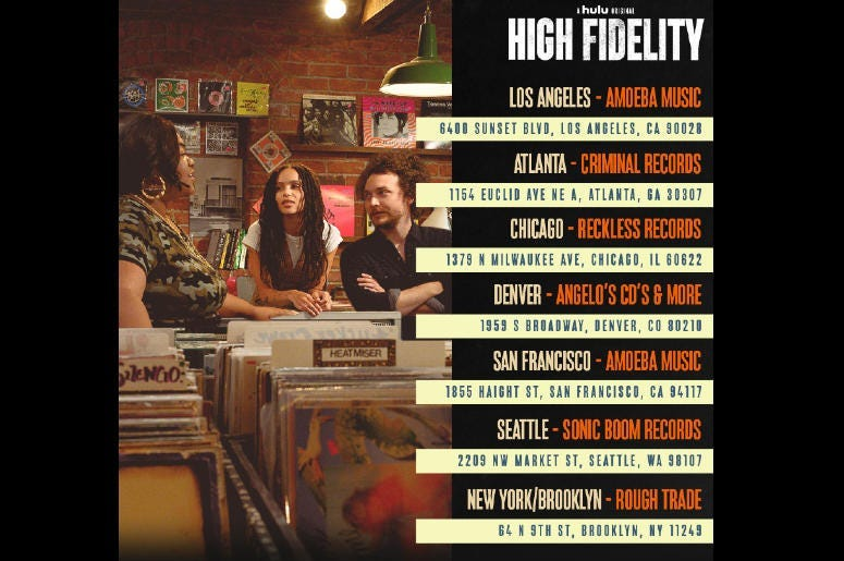 High Fidelity Record Store