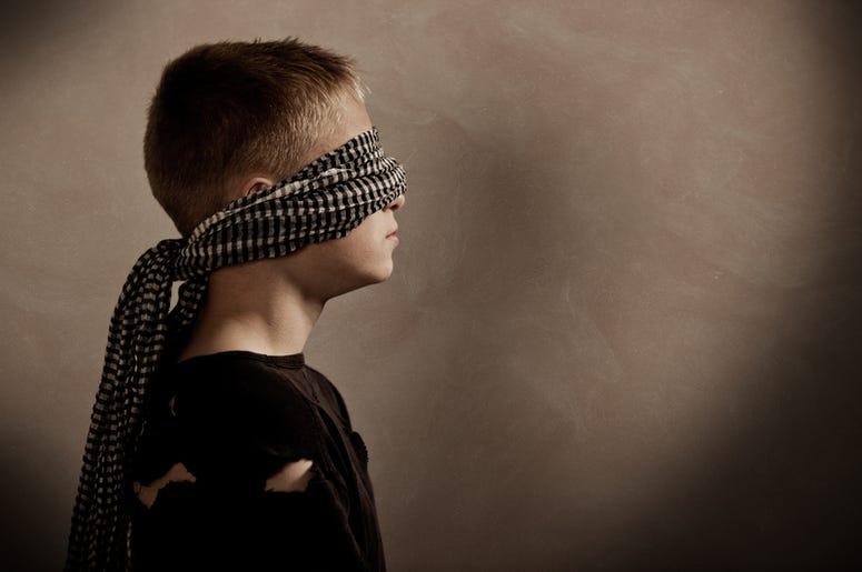 Blindfolded Boy
