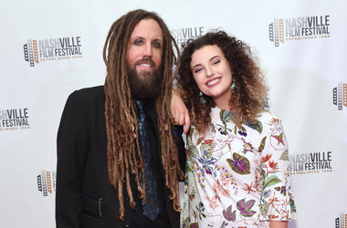 "Brian Welch of the band Korn and daughter Jennea Welch attend the screening of ""Loud Krazy Love"" at the Regal 27 Hollywood Theater on May 11, 2018 in Nashville, Tennessee"