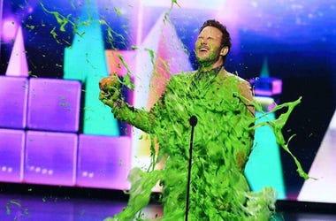 Chris Pratt Getting Slimed