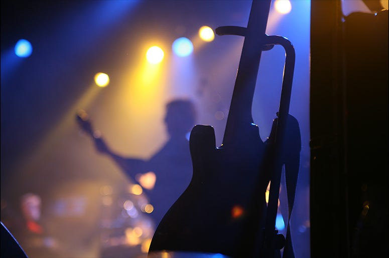 Guitar at a concert Dreamstime image