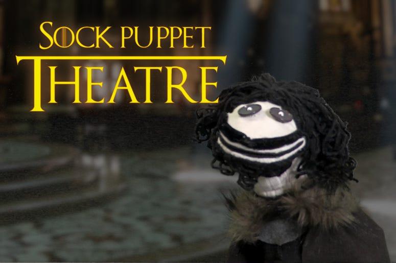 GOT Sock Puppet Theatre - Winterfell