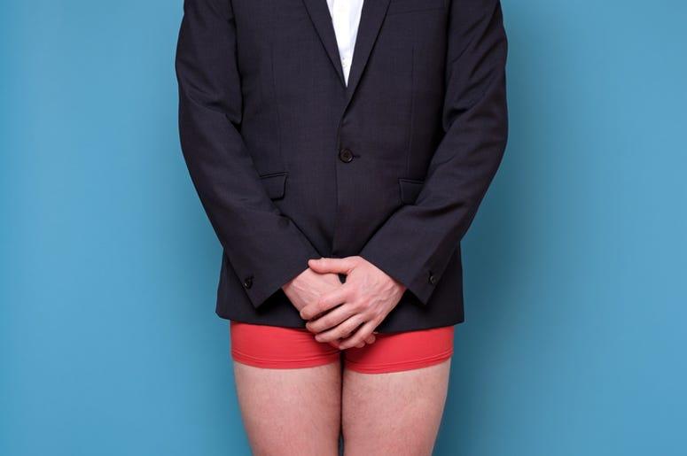 man in underpants