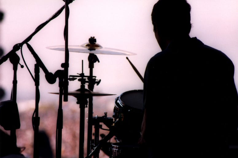 Drummer on a festival stage