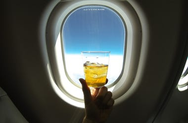 drink on plane