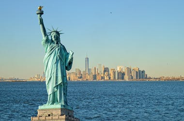 Statue of Liberty and Hudson River