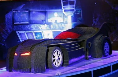 Giant LEGO Batmobile