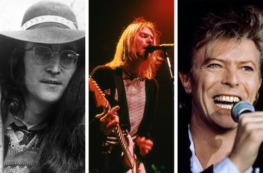 Kurt Cobain, David Bowie, John Lennon