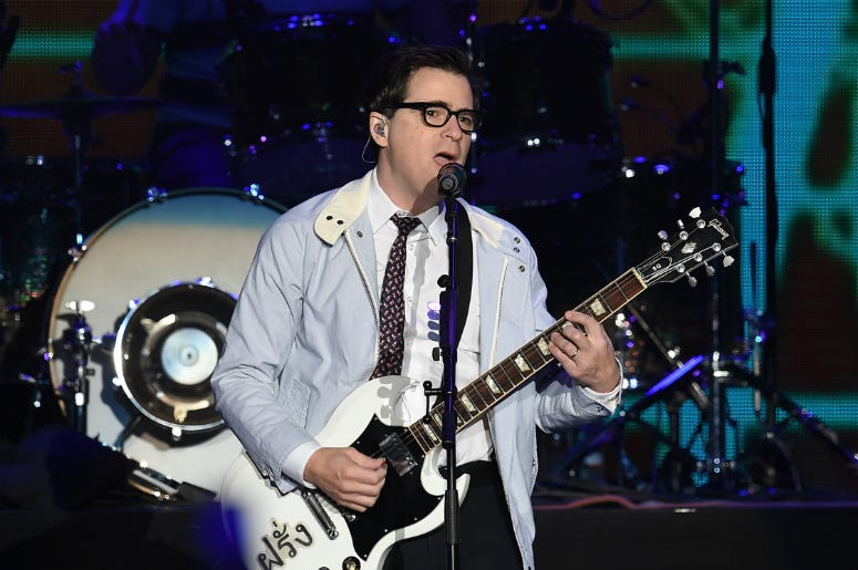 Rivers Cuomo of Weezer performs onstage during KROQ Almost Acoustic Christmas 2017