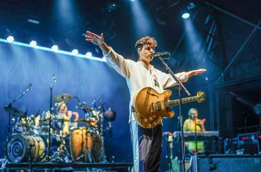 Ezra Koenig of Vampire Weekend performing in 2018