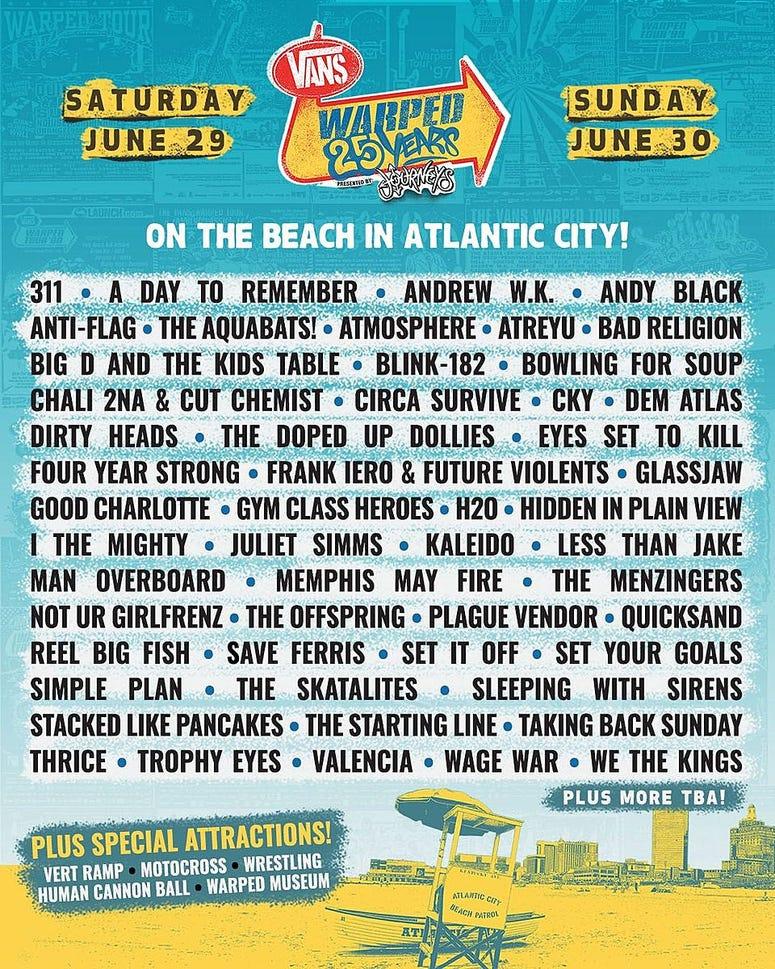 Warped Tour Line Up