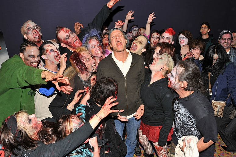 Woody Harrelson with Zombies