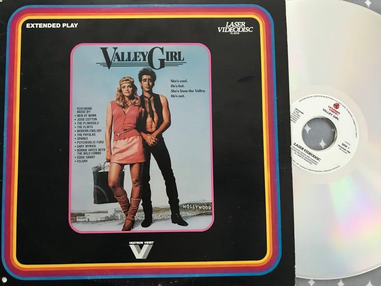 Valley Girl 80s Laser Disc