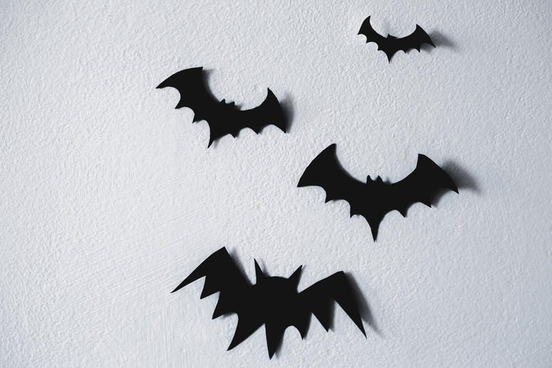 Paper Bats Halloween Decorations