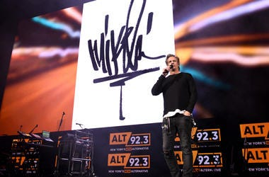 Mike Shinoda performs at Not So Silent Night