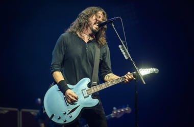 Dave Grohl of the Foo Fighters performing during the Glastonbury Festival on June 24th 2017