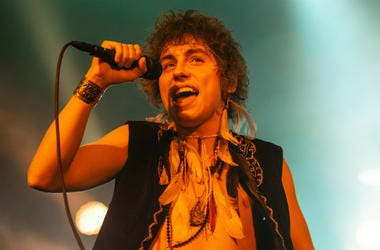 Josh Kiszka of Greta Van Fleet performs