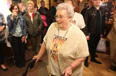 Gretna Van Fleet, a resident of Frankenmuth, Mich., attends an album-release party for rock band Greta Van Fleet'