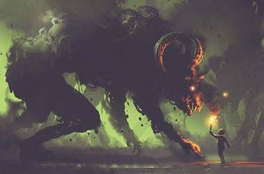 Knight Fighting a Demon