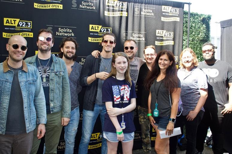 The Revivalists Meet Fans at ALT 92.3 Summer Open Set 1