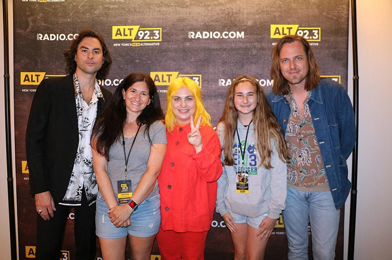 Jonathan, Charity, and Matt of The Head and the Heart meet fans in the RADIO.COM Theatre in NYC after their ALT 92.3 Pop Up Session on May 17, 2019