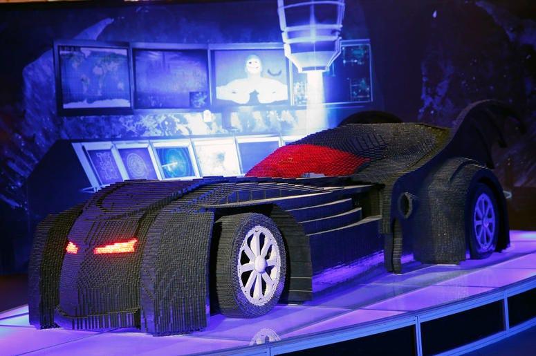 Giant LEGO Batmobile