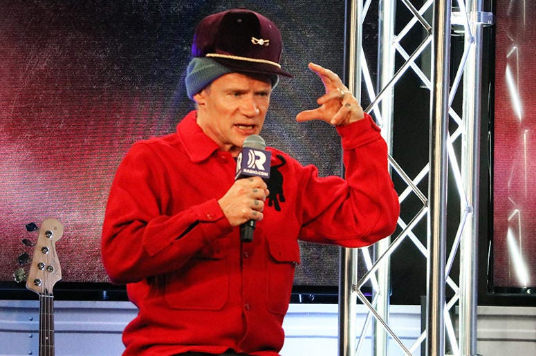 Flea of Red Hot Chili Peppers In the RADIO.COM Theater