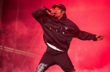 Travis Scott performs on stage on day 2 of Leeds Festival in Bramham Park in Leeds, UK. Picture date: Saturday 25 August 2018.