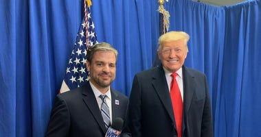 Bo Thompson with President Trump