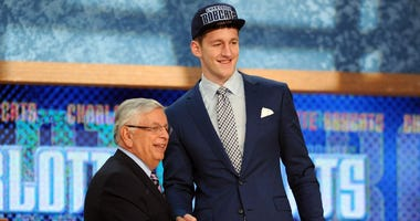 David Stern with Cody Zeller