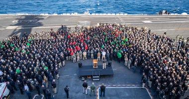 Esper defends firing of Navy ship captain over virus warning