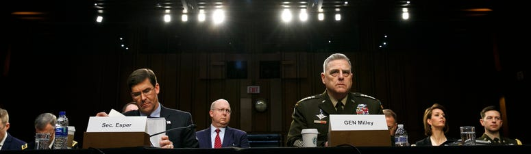 Pentagon leaders face grilling on use of military in unrest