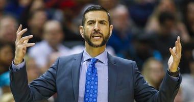 Charlotte Hornets coach James Borrego
