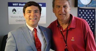 Pat McCrory with Mark Johnson