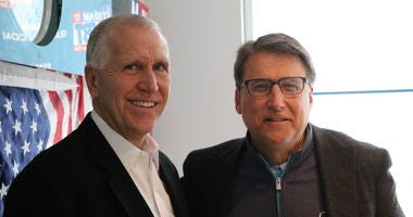 Pat McCrory and Thom Tillis in Studio