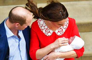William and Kate with new royal baby