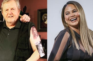Chrissy Teigen's Father Tattooed Daughter's Face on his Shoulder
