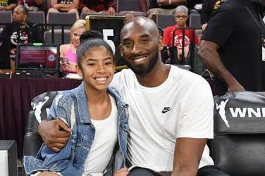 Kobe and his daughter