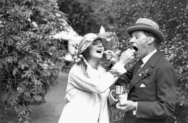 Couple enjoying ice cream in the 1920S