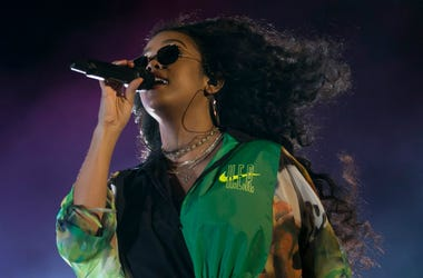 H.E.R performs on the Outdoor stage at the Coachella Valley Music and Arts Festival in Indio, Calif., on Sunday, April 14, 2019