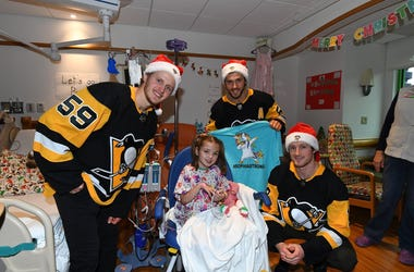 Pittsburgh Penguins at Children's Hospital