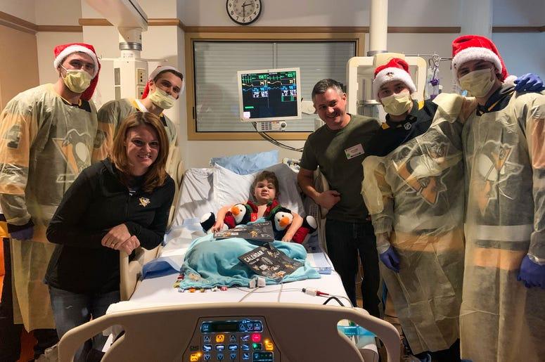 Pittsburgh Penguins at Children's Hospital