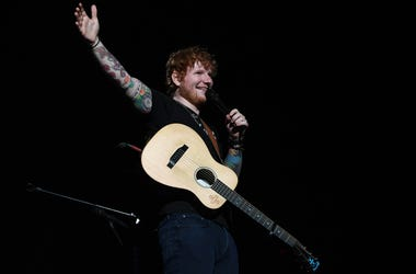 Ed Sheeran performs at the American Airlines Arena.