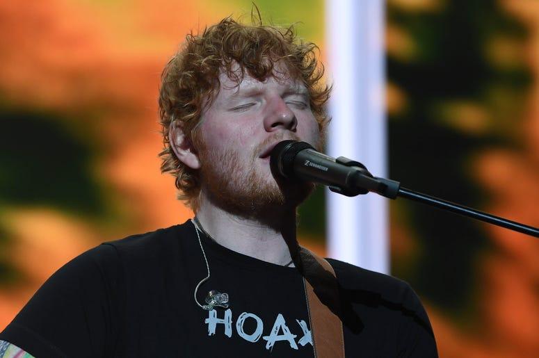 Ed Sheeran performs at the American Airlines Arena