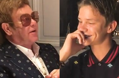 Watch Elton John Serenade Godson, Romeo Beckham, For His Birthday