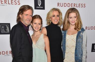William H. Macy, Grace Macy, Felicity Huffman, Grace Macy and Sophia Macy attend film screening
