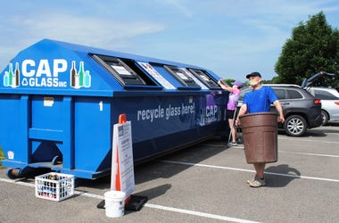 PRC Traveling Glass Recycling Bin Program