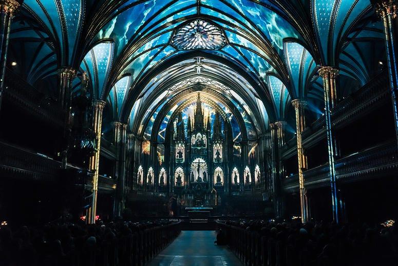 AURA show at the Notre-Dame Basilica