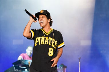 Bruno Mars performs during the 2018 BottleRock Napa Valley at Napa Valley Expo on May 27, 2018 in Napa, California