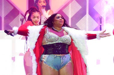 Lizzo performs during the 2019 KIIS-FM Jingle Ball concert at The Forum, Friday, Dec. 6, 2019, in Inglewood, Calif. (